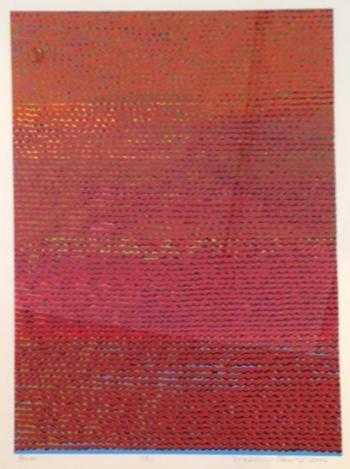 Madeleine Keesing,  Fire,  Silkscreen, 30 x 22 inches, Ed. 10 of 20