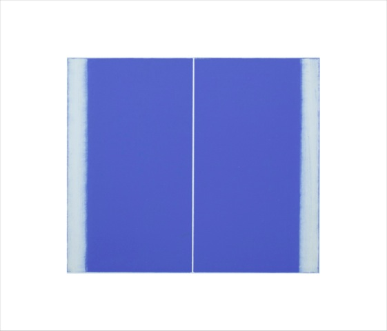Betty Merken,  Structure Ultramarine , 2015, Oil monotype, 14 x 16 inches