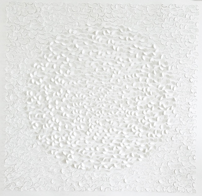 Floating , 2015, hand cut, 42 x 42 inches