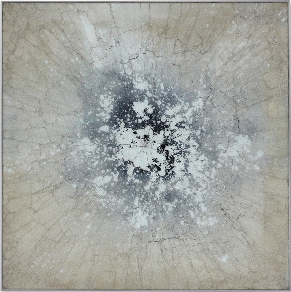 Kapnos 9-15 , 2015, reverse painted glass, 40 x 40 inches, SOLD