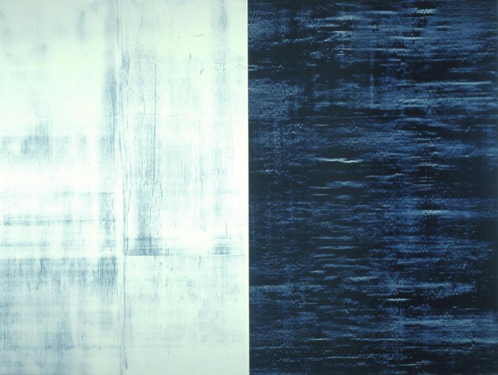 Donald Groscost,  Big Blue Yonder, 200,  Oil on canvas, 72 x 96 inches