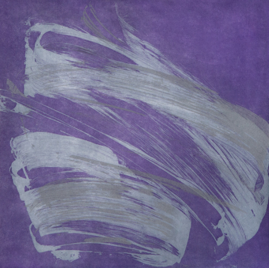Wingate Violet,  2015, Soap ground, sugar lift, aquatint, 18 x 19 inches, ed. of 30