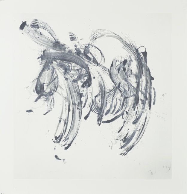 Cycle X 20 , 2013, Monoprint, 42.5 x 40 inches