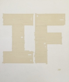 Matthew Heller,  Big If (tape painting),  2011, Acrylic on canvas, 56 x 46 inches