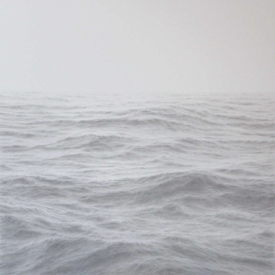 Katherine Young,  Open Ocean 28 , 2016, Graphite on paper, 32 x 32 inches