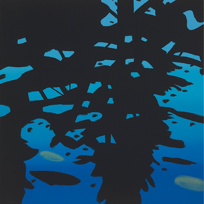 Alex Katz,  Reflections , 2010, 7-color silkscreen on Saunders Waterford white paper, 58 x 58 inches, ed. of 50