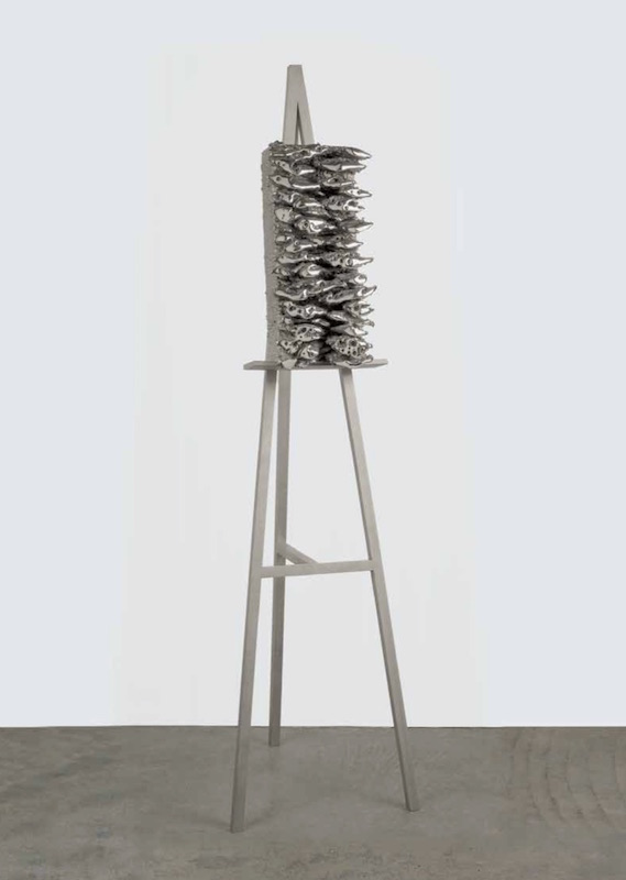 Vanitas,  2000 and 2010, Stainless steel (unique cast), 71 x 18 1/2 x 20 inches