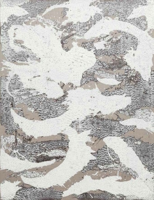Year of the Dragon,  2014, Encaustic on linen, 62 x 48 x 2 1/2 inches