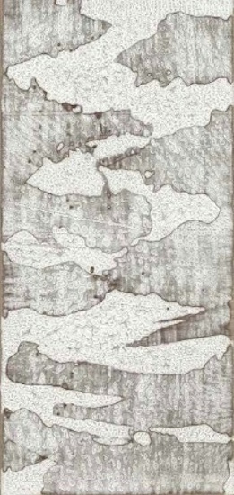 Cloud Study for Turner (Day) , 2011, Encaustic on linen, 48 x 24 x 1 3/4 inches