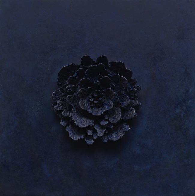 Bronze Blossom (Blue),  2011, Bronze (unique cast), 16 x 16 x 2 5/8 inches