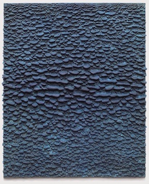 Blue Relief , 2006, Bronze (unique cast), 37 1/2 x 30 1/2 x 2 1/4 inches