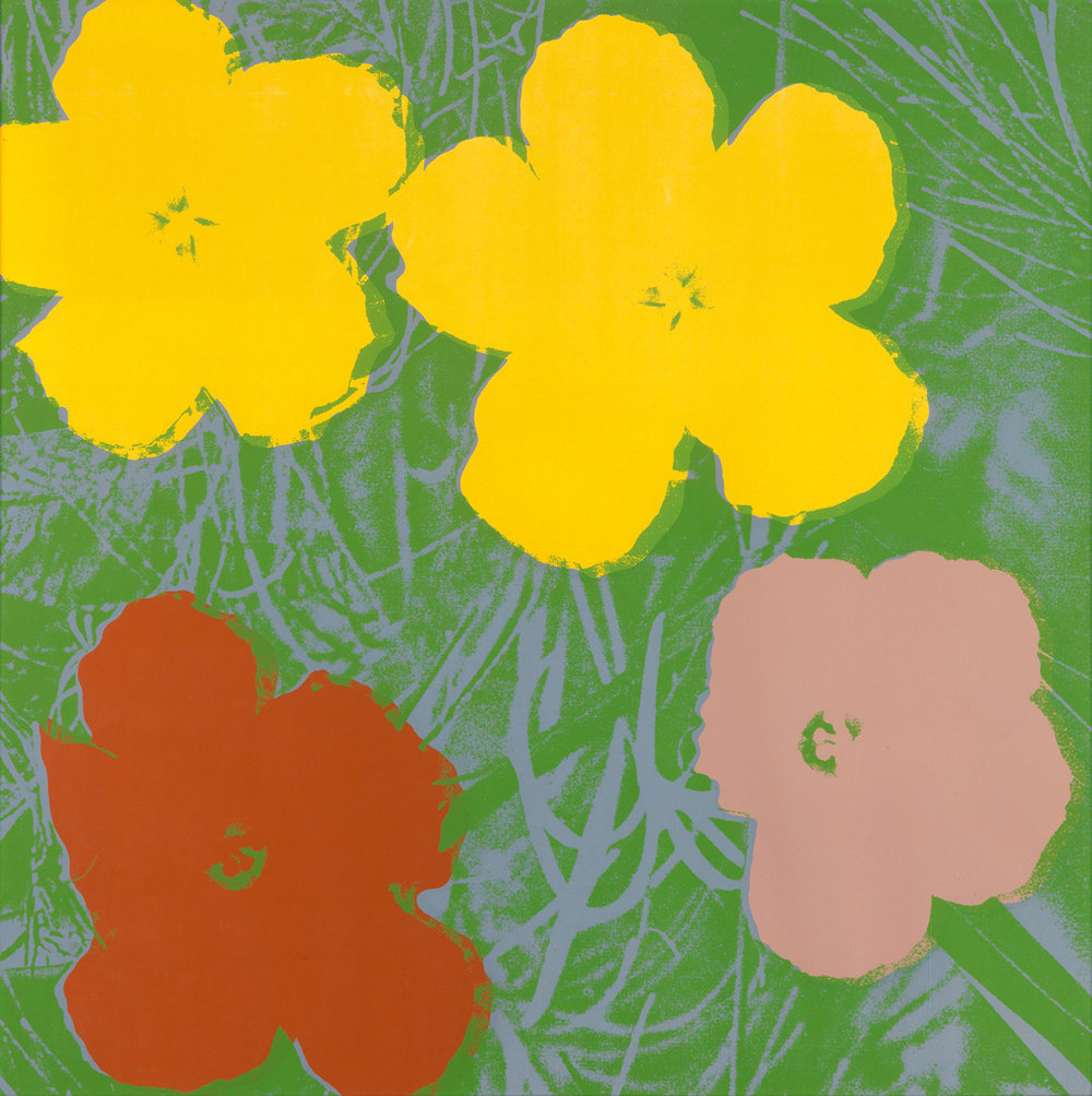Andy Warhol,   Flowers II.68,  Color silkscreen, 36 x 36 inches, signed en verso