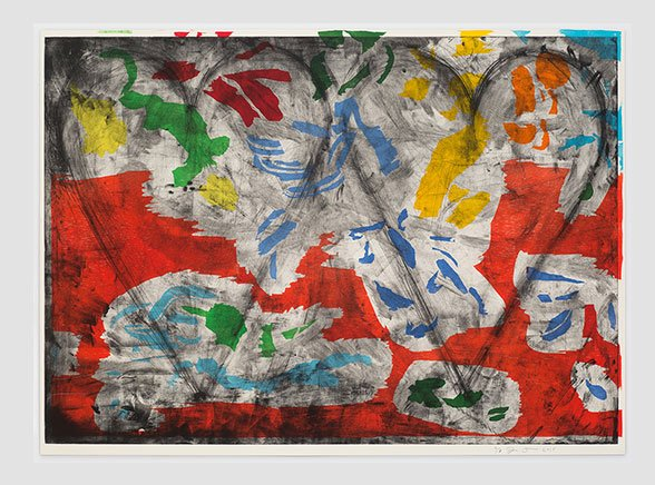 Jim Dine,   Radiant Landscape , 2015, Woodcut and copperplate etching, 39.5 x 55.75 inches, ed. 2 of 10