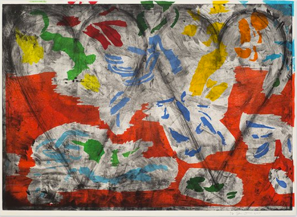 Jim Dine, Radiant Landscape, 2015, Woodcut and copperplate etching, 39.5 x 55.75 inches