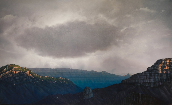 Wilderness Does Not Locate Itself, 2014, oil on canvas, 72 x 119 inches