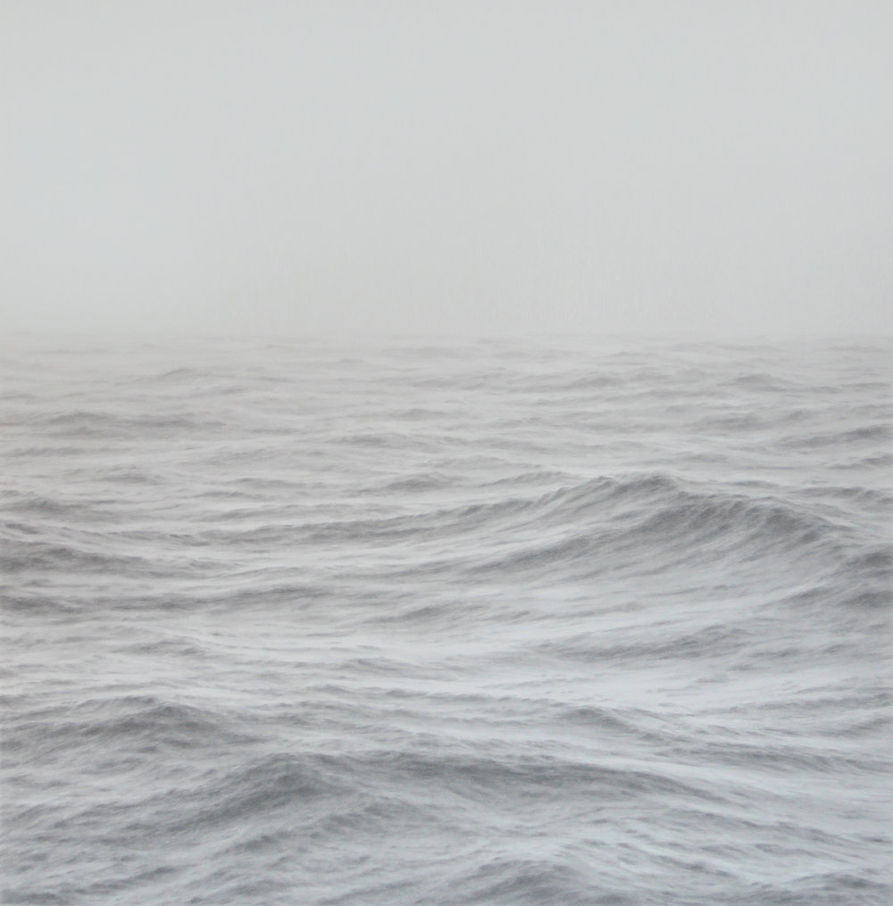 Katherine Young,   Harmonic,  graphite on paper, 32 x 32 inches