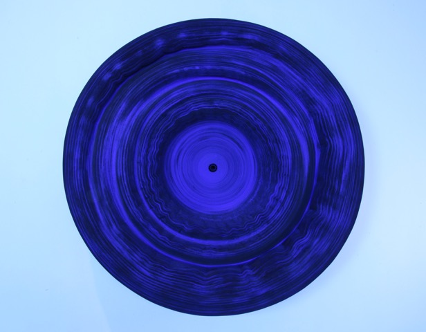 Jae Ko ,  JK493 Ultramarine Blue;  rolled paper, colored ink and glue; 28 x 28 x 6 inches