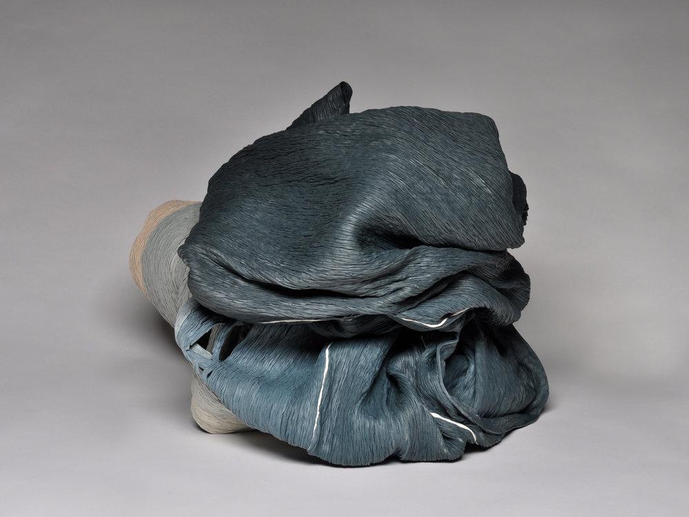 Cheryl Ann Thomas, Igneous, 2017, hand-coiled porcelain ceramic, 16 1/2 x 22 x 19 inches