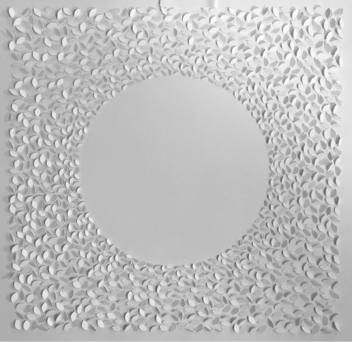 Monday, Solar Series, 2016, handcut paper, 3975 cuts, 37 x 37 inches