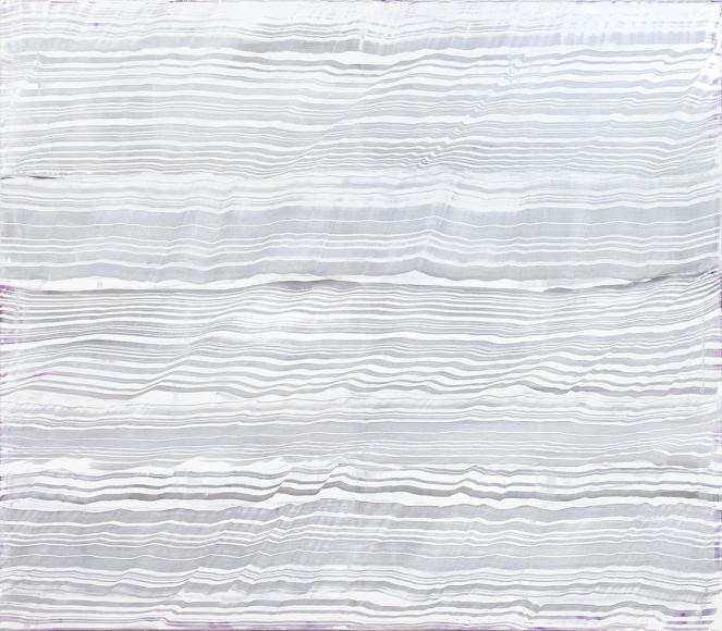 Ricardo Mazal,  White Over Violet 2, 2016, Oil on linen, 71 x 82 inches
