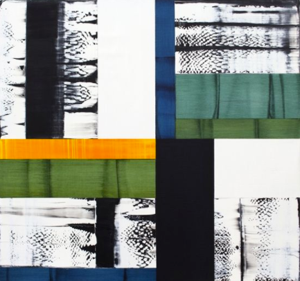 Ricardo Mazal,   Bhutan Abstraction G2 , 2014, Oil on linen, 40 x 42 inches