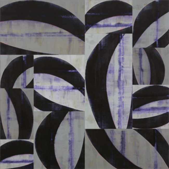 Charles Arnoldi,   Anecdotes, 2007,  Acrylic on canvas, 96 x 96 inches