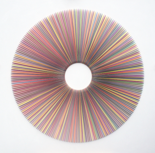 Radiating Paper Cut,  2017, mixed media, 44 3/4 x 44 3/4 inches,  SOLD