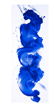 James Nares,   I'm Blue , 2017, Screenprint, 75 x 28 inches