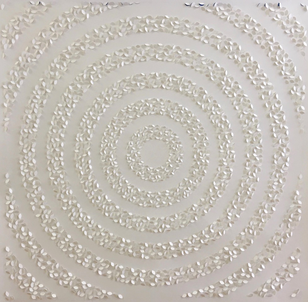 Passage , 2017, Hand-cut paper, 8,655 cuts, 48 x 48 inches, 54 1/4 x 54 1/4 inches framed, SOLD