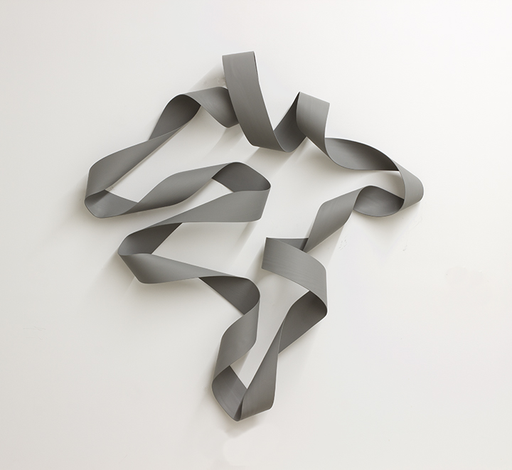 Afternoon Grey , 2018,Stained white ash, 70 x 64 x 11 inches