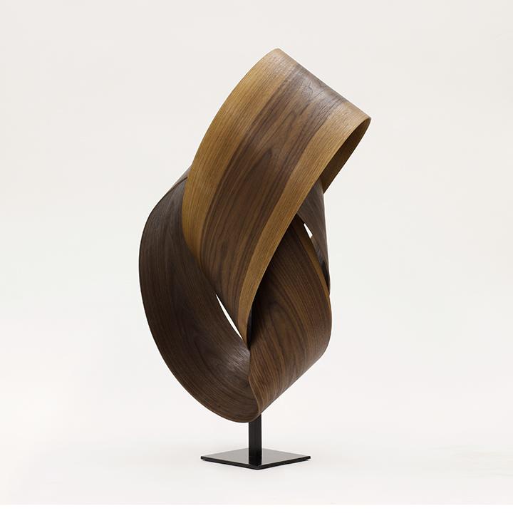 Walnut I , 2018, Walnut on a metal base, 32 x 16 16 inches