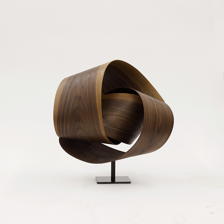 Walnut II , 2018, Walnut on a metal base, 24 x 22 x 16 inches