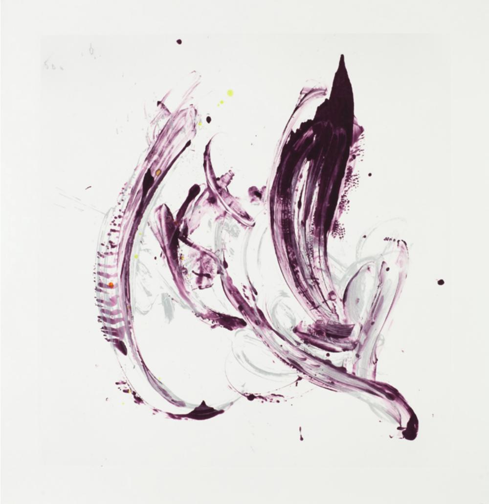 Jill Moser,  Cycle X 22 , 2013, Monoprint, 42 1/2 x 40 inches