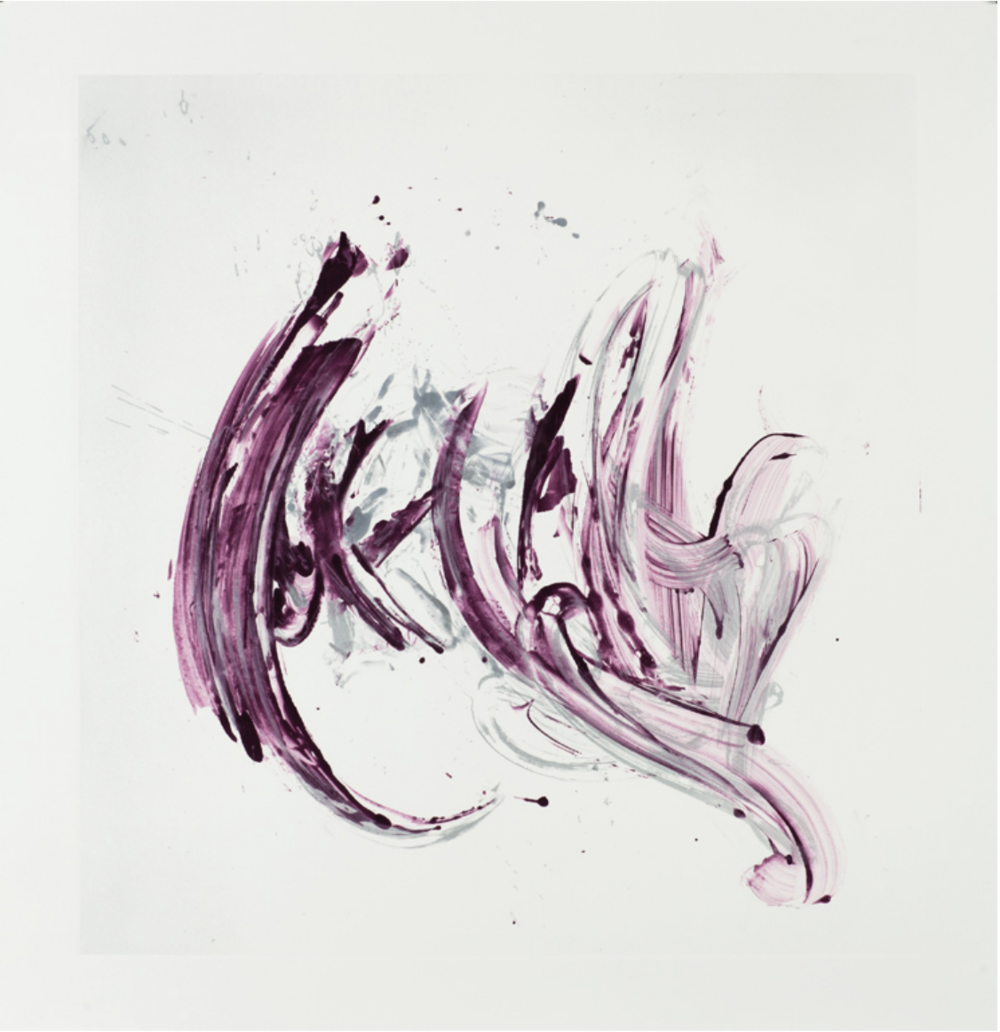 Jill Moser,  Cycle X 6, 2013, Monoprint, 42 1/2 x 40 inches