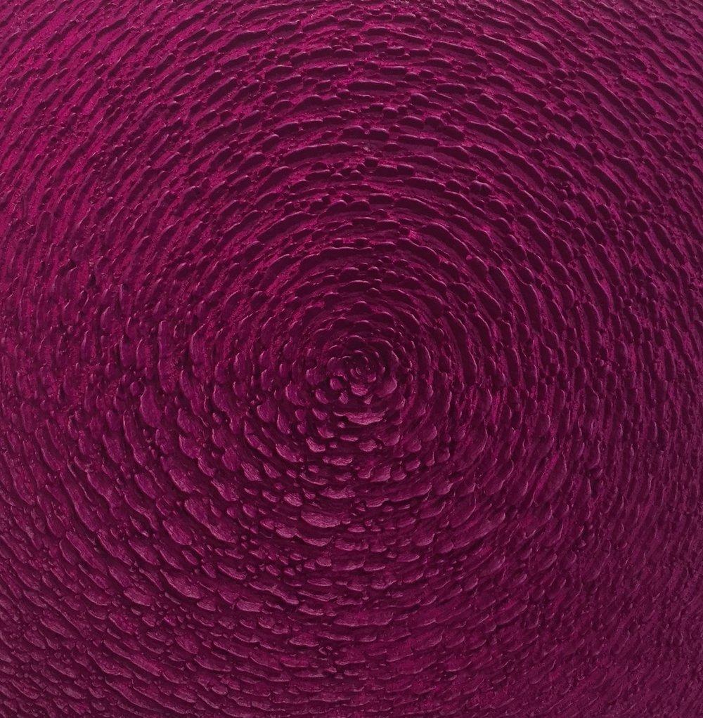 Martin Kline  , Cobalt Violet Bloom , 2017, Encaustic on panel, 36 x 36 x 3 1/2 inches