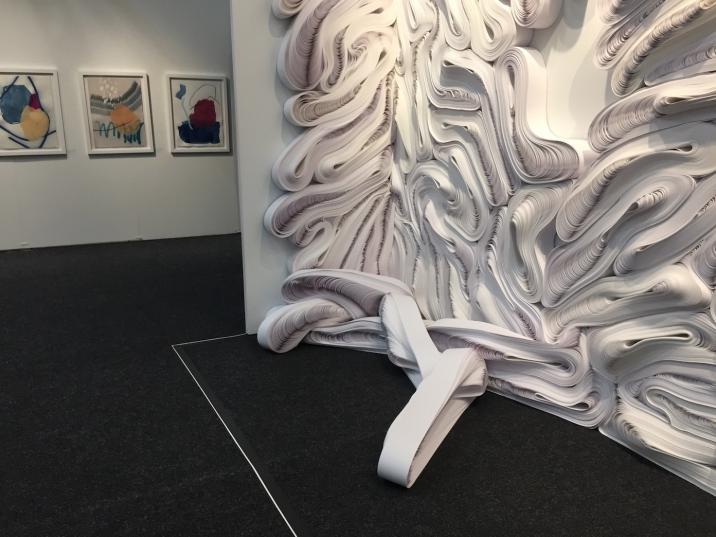 "Hyperallergic ""Art on Paper Folds Together Elegance and Unruliness"""