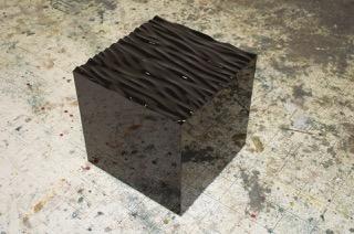 Alex Weinstein,  Swell Model , 2013, Plywood, fiberglass, auto paint, 18 x 18 x 18 inches