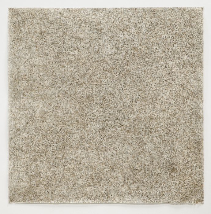 Jay McCafferty,  + is - 6,  solar burns on paper, 54 x 54 inches framed