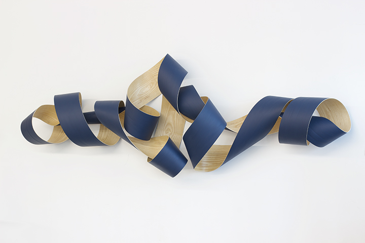 Jeremy Holmes   , Landscape,  2018, painted white ash, 34 x 99 x 12 inches