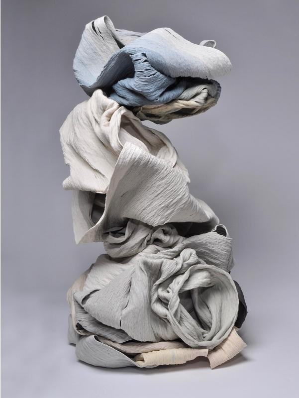 Cheryl Ann Thomas   , Perch,  2015, Hand-coiled porcelain ceramic, 16 1/2 x 22 x 19 inches