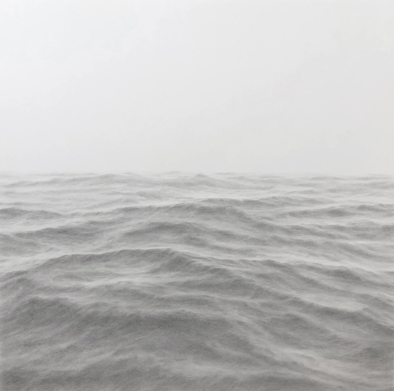 Katherine Young,    On the Way,  2018, graphite on paper, 20 x 20 inches
