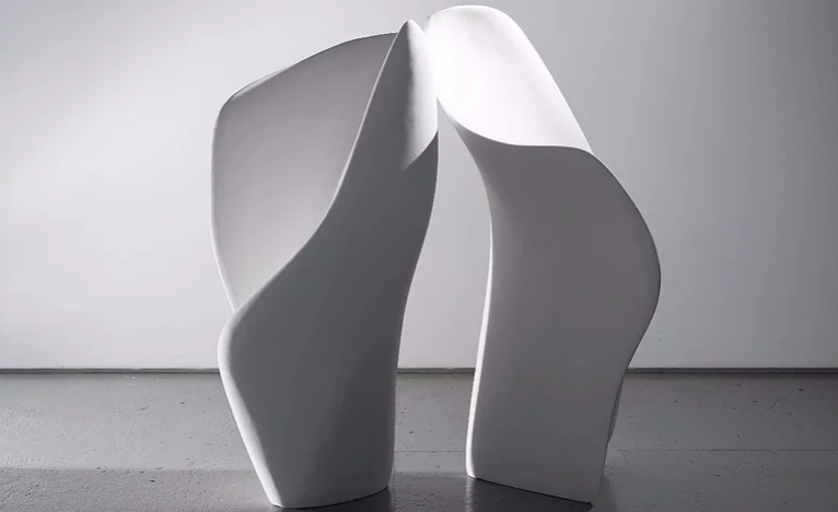 You and I,  polyurea/hardcoat, two pats - 37 x 20 x 15 inches, 36 x 18 x 12 inches