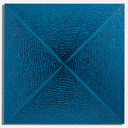 Martin Kline,  Lancelot,  2018, encaustic on panel, 60 x 60 x 4 inches
