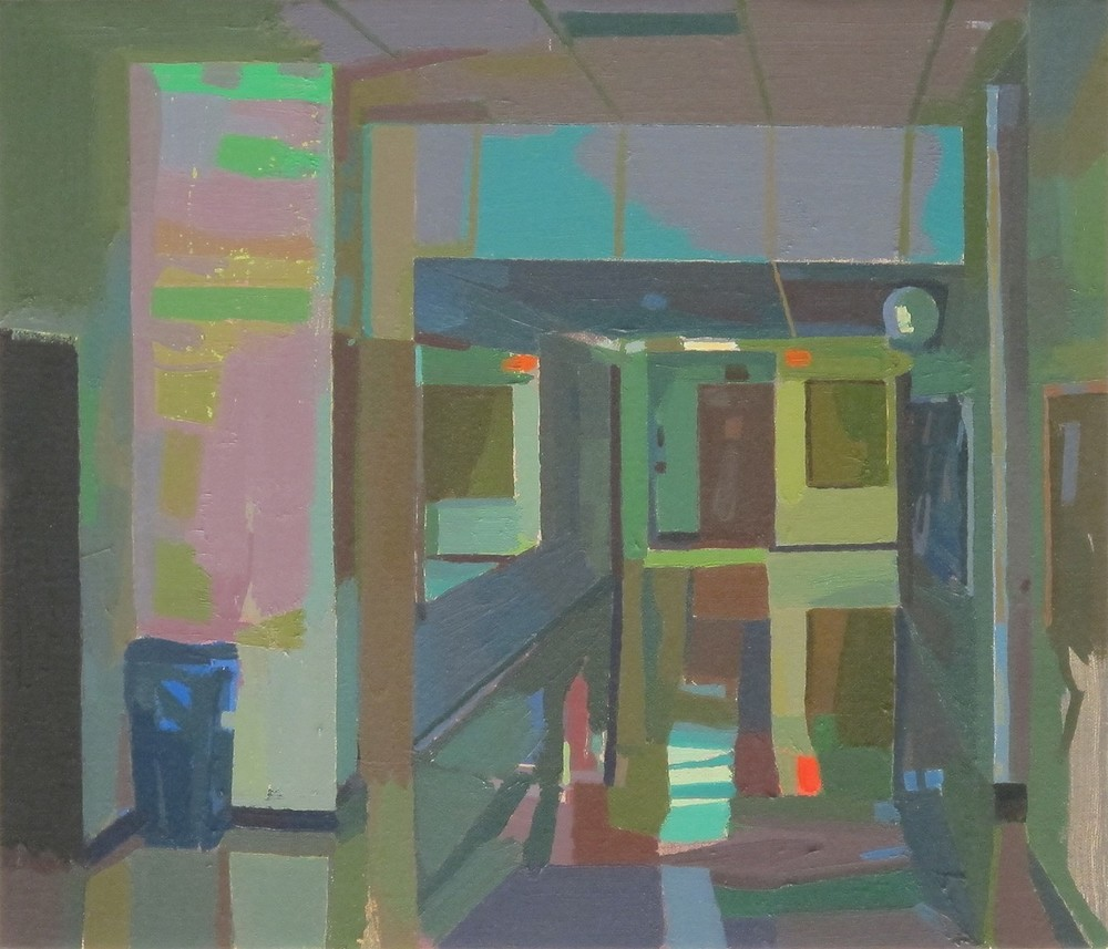 John Lee,  Dead Hall , oil on linen, 2014