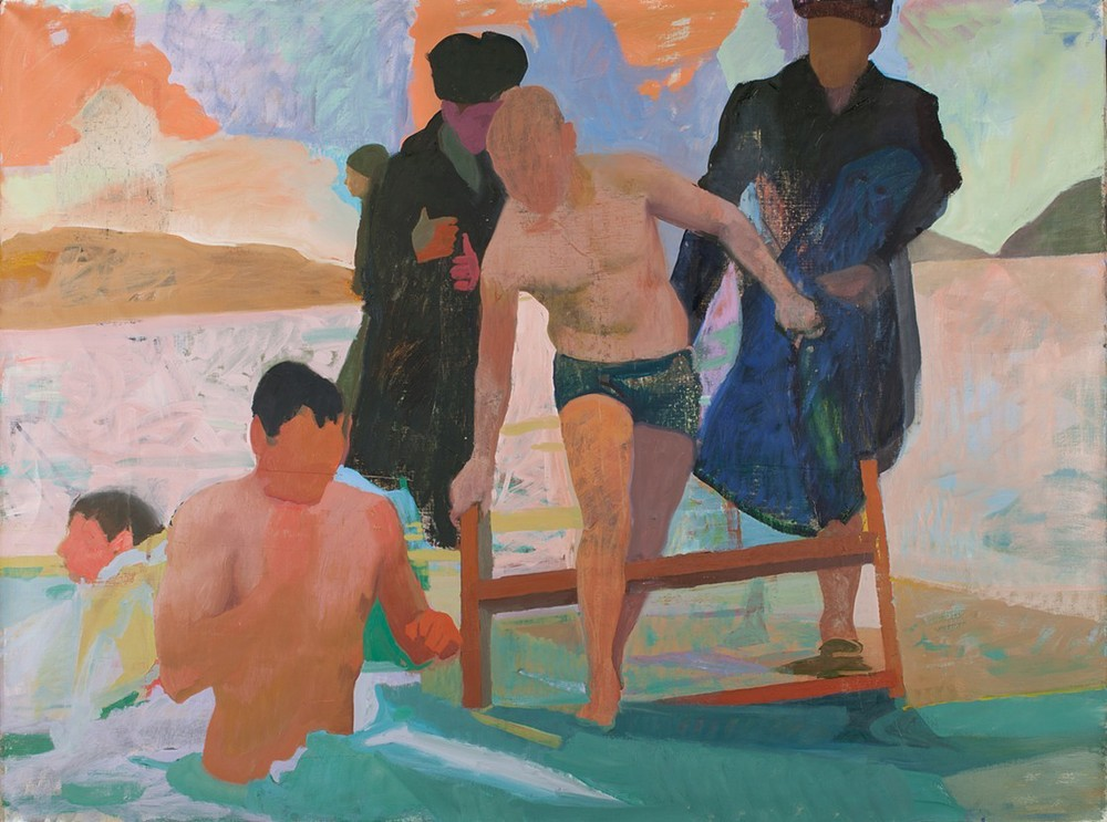 Polar Bear Club,   2015, oil on linen, 72x96