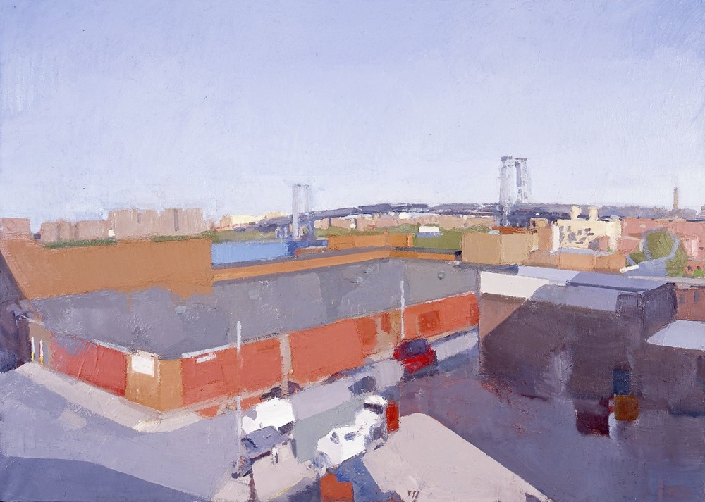 View From the Studio, Brooklyn  , 2001   — 2006,   oil on linen, 68 x 95 in