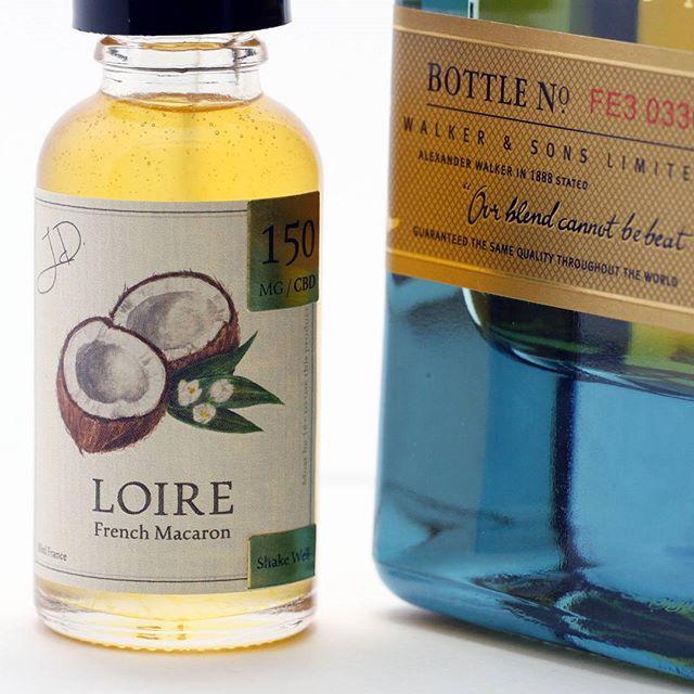 Perfect Pairing- Johnnie Walker Blue Label and Loire Coconut CBD #loireCBD #vapecbd #eliquid #vapeporn #vapelife