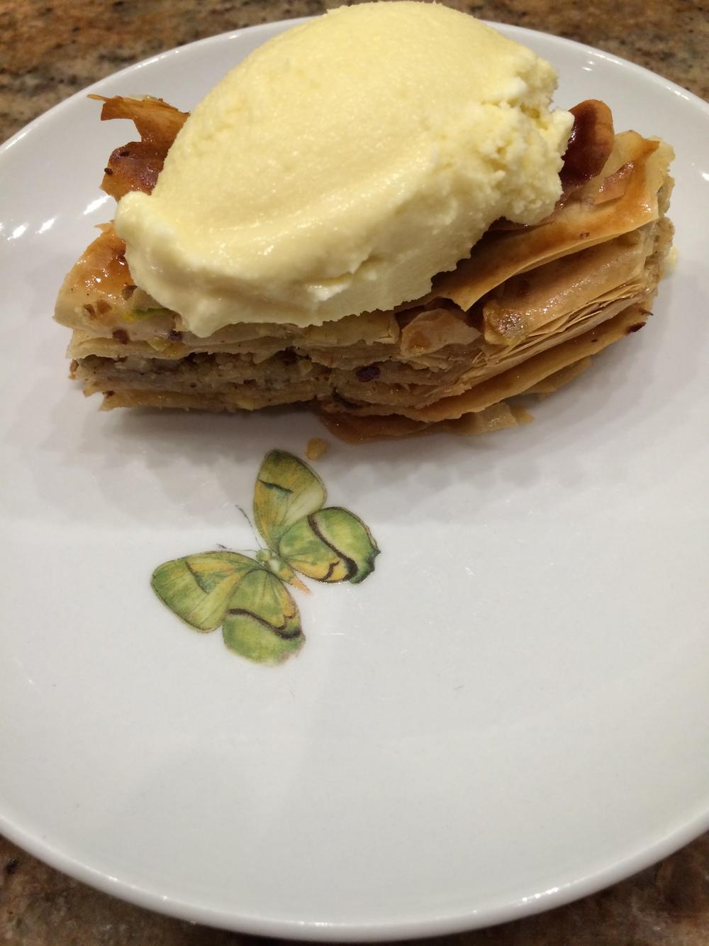 Baklava & Honey Ice Cream