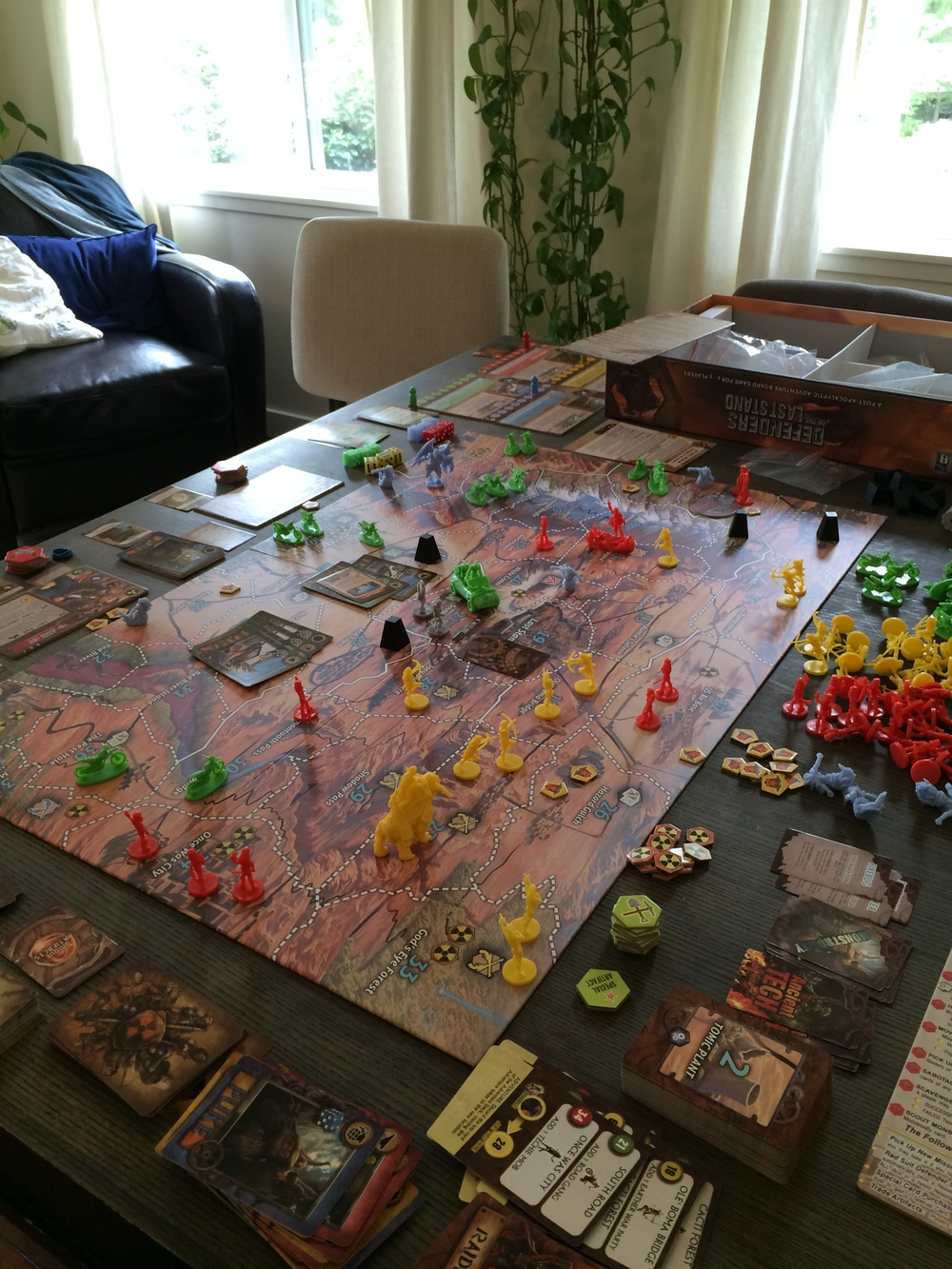 Justin's board game of Defender's of the Last Stand