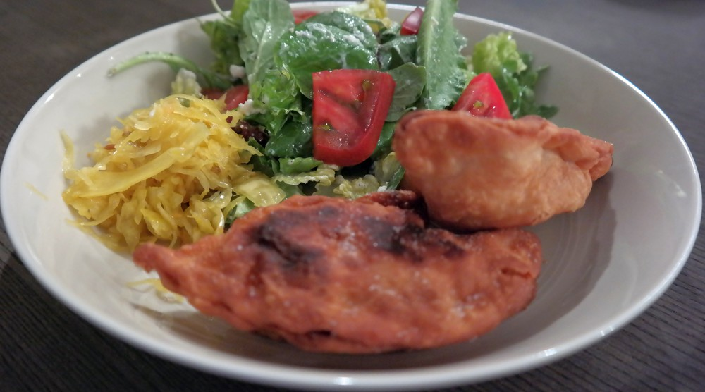 We enjoyed ours with a little Britt's Curry Kraut and fresh salad